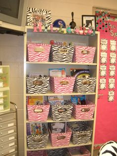 teacher book storage... Would be cute in Ansley's room to