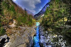 The Soča river, Slovenia