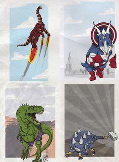 Marvel Dinosaurs - by David Resto / d.r3sto