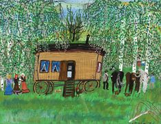 Ceija Stojka ging schilderen na de holocaust - NRC Artist Painting, Painting Frames, Dark Pictures, Forced Labor, Wooden Cabins, Persecution, How To Level Ground, Us Travel, In The Heights