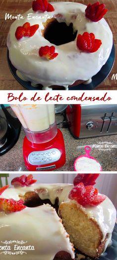 Como preparar um delicioso bolo de leite condensado, com as fotos do passo a passo!