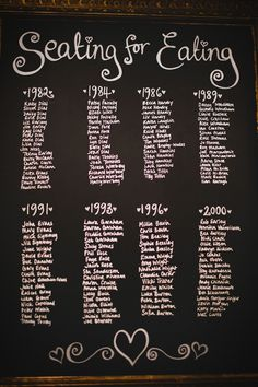 Eclectic Quirky Wedding Blackboard Table Plan http://www.claudiarosecarter.co.uk/