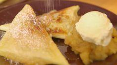 Das perfekte Apfeltaschen im Sandwichmaker-Rezept mit Video und einfacher Schritt-für-Schritt-Anleitung: Die Äpfel schälen und in Stücke schneiden. Die…