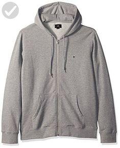 OBEY Men's Eighty Nine Icon Slim Fit Hooded Zip up Fleece, Heather Grey, Medium - Mens world (*Amazon Partner-Link)