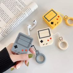 Gameboy Silicone Designer Protective AirPods 1 & 2 Case Custom Cell Phone Case, Cell Phone Cases, Iphone Cases, Iphone Phone, Ipod, Wholesale Cell Phones, Mould Design, Earphone Case, Cute Games