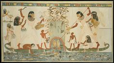 Menna and Family Hunting in the Marshes, Tomb of Menna Artist: Nina de Garis Davies (1881–1965) Period: New Kingdom Dynasty: Dynasty 18 Reign: reign of Thutmose IV–Amenhotep III Date: ca. 1400–1352 B.C. Geography: Original from Egypt, Upper Egypt; Thebes, Sheikh Abd el-Qurna, Tomb of Menna (TT 69), north wall Medium: Tempera on paper Dimensions: facsimile: h. 101 cm (39 3/4 in); w. 189 cm (74 7/16 in) scale 1:1 framed: h. 107 cm (41 1/8 in); w. 189 cm (77 in); th. 3.2 cm (1 1/4 in) Credit…