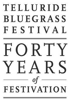 "TellurideBluegrassFestival  '""40 Years of Festivation"" Book'"