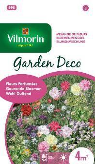 #mengsel van #geurende #bloemen die de #tuin verfraaien en #parfumeren: #Alyssum, #Tagetes, #Dille, #Zeeviolier, #Violier, #Reseda. #vilmorin