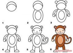 aap tekenen met kleuters