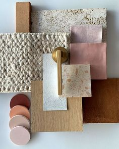 """Cheap Home Decor Playing with naturals tobaccos and blush in the studio today. Clockwise from top: """"Chambray Dusk"""" fabric from.Cheap Home Decor Playing with naturals tobaccos and blush in the studio today. Clockwise from top: """"Chambray Dusk"""" fabric from Home Decor Inspiration, Color Inspiration, Moodboard Interior, Material Board, Colour Board, Colour Schemes, Colorful Interiors, Mood Boards, Decoration"""