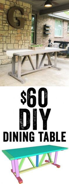LOVE this DIY Dining Table Free plans and tutorial Only 60 in lumber to build Yes