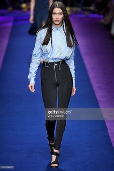 Bella Hadid walks the runway at the Versace Ready to Wear show during Milan Fashion Week Spring/Summer 2017 on September 23, 2016 in Milan, Italy. (Photo by Victor VIRGILE/Gamma-Rapho via Getty Images)