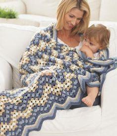 Country Fair Chevron Crochet Pattern is an amazing easy crochet pattern with a great ripple crochet design. | AllFreeCrochetAfghanPatterns.com