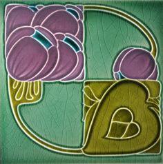My tile collection Archives - Art Nouveau Tiles Art Nouveau Tiles, Art Nouveau Design, Vintage Tile, Vintage Art, Antique Art, Antique Tiles, Azulejos Art Nouveau, William Morris Art, Traditional Tile