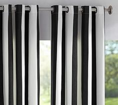 Sunbrella® Indoor/Outdoor Grommet Drape #potterybarn