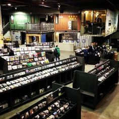 Rough Trade, the City's largest record store – Williamsburg, NYC #shopping #nycshopping #records #roughtrade #williamsburg