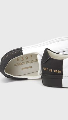 b1b5cf9e718385 Woman by Common Projects x 6397 Sneaker in Black White