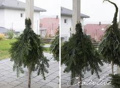 DIY fir tree with pointed cap- DIY Tannenbaum mit Zipfelmütze DIY fir-tree with pointed cap – CreativLIVE - Christmas Planters, Diy Christmas Tree, Christmas Gnome, Xmas Tree, Holiday Crafts, Holiday Decor, Navidad Diy, Fir Tree, Diy Weihnachten