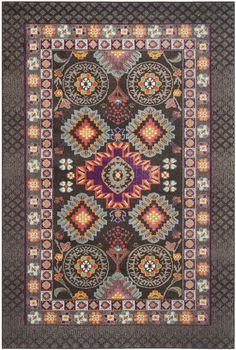 Ankara Rug in Brown