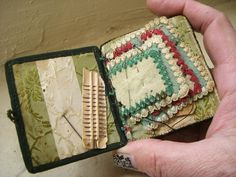 Antique Victorian Sewing Kit with Petit Point Designs. $75.00, via Etsy.