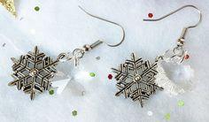 Crystal Snowflakes snowflake earrings by BlueWorldTreasures