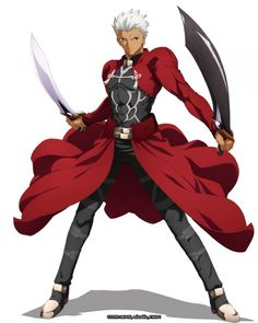 Images from Limited Fate/stay night [Unlimited Blade Works] Crossover With The Alchemist Code Smartphone Game Character Concept, Character Art, Character Design, Concept Art, Archer Characters, Anime Characters, Style Anime, Fate Archer, Shirou Emiya