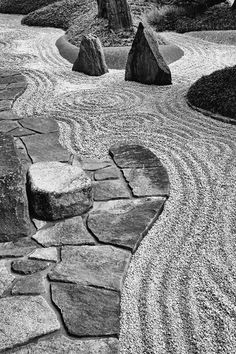"""""""Shigemori's body of work is a compelling manifesto for continuous cultural renewal"""" - CHRISTIAN TSCHUMI - (Ashida residence in Osaka designed by Mirei Shigemori in Japanese Garden Style, Japanese Landscape, Modern Landscape Design, Modern Landscaping, Japanese Gardens, Zen Gardens, Zen Rock Garden, Zen Garden Design, Garden Stones"""