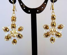 Free pattern for earrings Gala