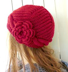 Hand Knit hat Womens Cable knit hat Slouchy Beanie by Ebruk, $35.00