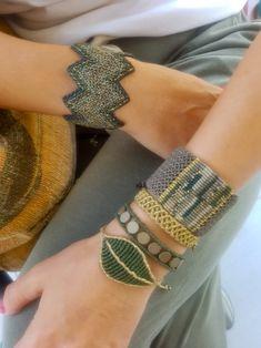 Khaki and Green Macrame Bangle,Knotted Wristband,Micro Macrame Wide Bracelet,Gold Metallic Waxed Thread,Woman Macrame jewelry Source by nanakosmidi Macrame Art, Macrame Jewelry, Macrame Bracelets, Bangle Bracelets, Macrame Projects, Macrame Knots, The Bangles, Micro Macramé, Bracelet Tutorial