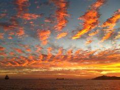 Sunset from Toscana's in Manzanillo Mexico