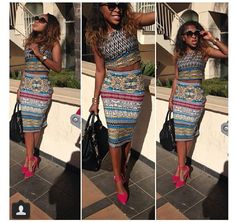 Simple and African. Love it