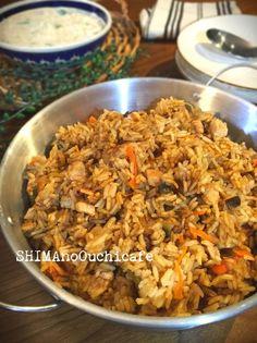 お家で簡単!インド料理♪チキンビリヤニ(インドのスパイシー炊き込み御飯)。