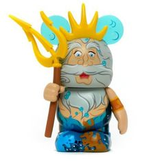 King Triton from the upcoming Little Mermaid Vinylmation Series