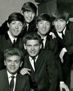 The Everly Brothers and The Beatles. The Beatles' close harmonies borrow a lot from the Everlies.