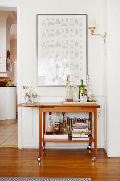 SImilar corner might work in dining room against living room wall Dining Room Corner, Bar Carts, Rich Man, Bars For Home, Bay Area, Happy Hour, House Tours, Thrifting, Beautiful Homes