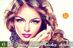 15 Oil Painting Effect Photoshop Act by Vatdesign on Creative Market