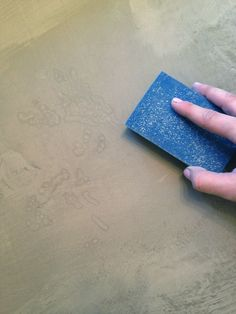 Little Green Notebook: DIY Concrete Countertops
