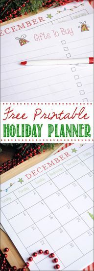 Free Printable CHRISTMAS...slip into the HS planner