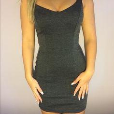 Dress open ribbed back from Charlotte Russe ! Open back is so cute, tight and looks great on the chest are due to v like shape. Super comfy! Once worn for a party, Hope someone can enjoy it xoxo Charlotte Russe Dresses Mini