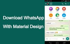 WhatsApp Material Design Download – New Update and Features