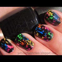 Cute splotched nail polish