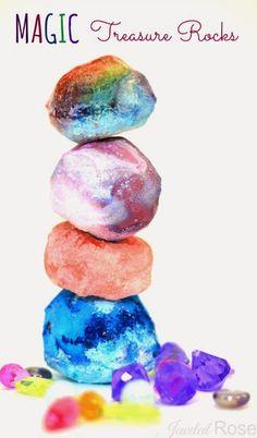 roches magiques a faire avec les enfants