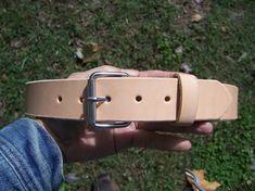 Full Grain Leather Belt  Custom Fit. Natural by BayTowneLeatherUSA, $42.00