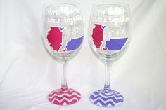 SET+OF+2+State+to+State+Country+Wine+Glass+by+DesignsByRaeSmith,+$30.00