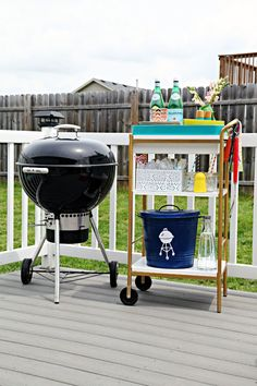IHeart Organizing: June Monthly Challenge: Outdoor Entertaining Cart!