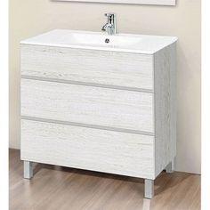 Muebles de baño ARTICO blanco textura