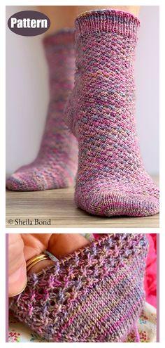 Hedgehog Socks Knitting Pattern – knitting socks – Knitting for Beginners Knitting Terms, Knitting Socks, Knitting Patterns Free, Free Knitting, Free Crochet, Knitted Socks Free Pattern, Knitting Wool, Stitch Patterns, Simple Knitting