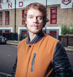 Promotional picture, Football: A Brief History by Alfie Allen This is essentially Alfie's season-seven Theon look (he isn't even smiling here!) .