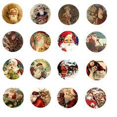 Free Bottle Cap Images: Vintage Santa Claus - Bottle Cap Images